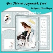 Best Friends Asymmetric Birthday Card