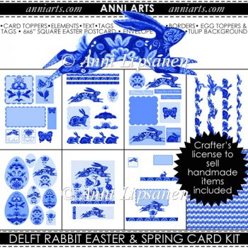 Delft Rabbit Cardmaking Kit