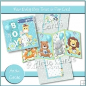 New Baby Boy Twist & Pop Card