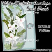 White Gladiolus Envelope Card Front
