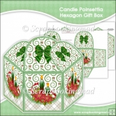 Candle Poinsettia Hexagon Gift Box