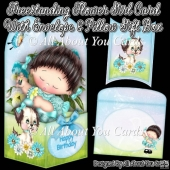 Freestanding Flower Girl Card & Envelope & Pillow Gift Box