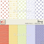 12x12 Spring Themed Scrapbook Patterned Papers