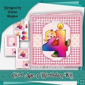 Girl Age 4 Birthday Kit