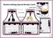 Homecooking Apron Shape Recipe Card with Inside Pocket