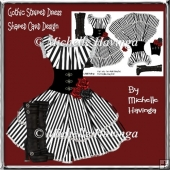 Gothic/Steampunk Dress Shaped Card