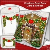 Christmas Front Door Tent Card