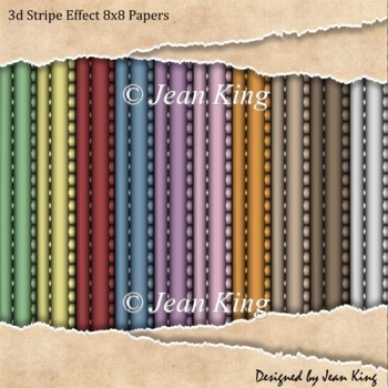 3d Effect Stripe 8x8 Papers