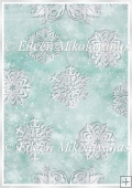 Cutwork Snowflakes Christmas Winter Backing Background Paper