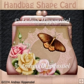 Handbag Shape card Rose