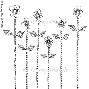 Springy Flowers Clipart - Digital Stamp