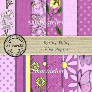 Spring Fling Pink Papers