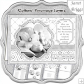 1st HOLY COMMUNION SILVER A5 Pyramage verse & Inserts Card Kit