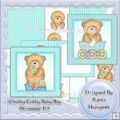 Chubby Cubby Baby Boy Decoupage Kit