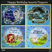 Happy Birthday inserts/toppers