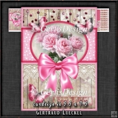 Vintage Card Topper Kit Pink 1370