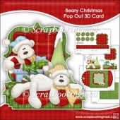 Beary Christmas Pop Out 3D Card & Envelope