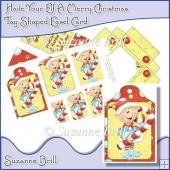 Have Your Elf A Merry Christmas Tag Shaped Easel Card
