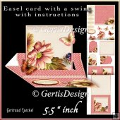 Easel Card With A Swing rose