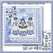 Blue Choir Singers Square Card Front