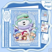 SINGALONG SNOWMAN 7.5 Christmas decoupage & Insert Mini Kit