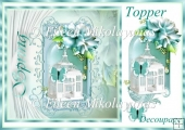 Spring Fantasy Topper with Decoupage