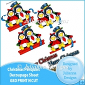 GSD Print n Cut Christmas Penquins Cutting File