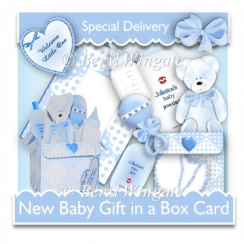 Baby Boy Gift In a Box Card