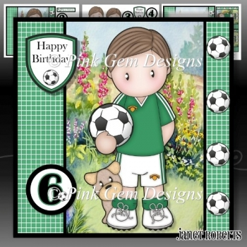 Football Andy Green Mini Kit with Ages