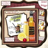 COCKTAILS WHISKEY GETS BETTER WITH AGE 7.5 Humorous Decoupage