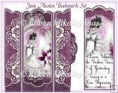 Jane Austen Inspirational Bookmark Set