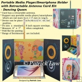 Portable Media Player/Smartphone Holder Card - Dancing Queen