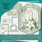 All Is Bright Shaped Christmas Card Kit