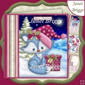 ARCTIC FOX & CHRISTMAS GIFT 7.5 Decoupage & Insert Mini Kit