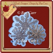 374 Snowflake Shaped Card *Multiple MACHINE Formats*