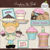 Bake Sale 1 ClipArt Graphic Collection