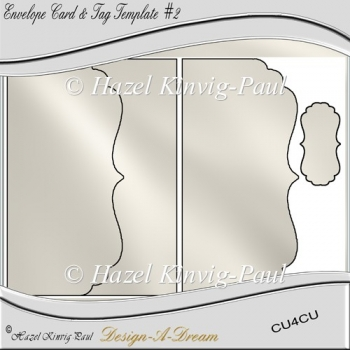 Envelope Card & Tag Template #2