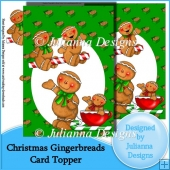 Christmas Gingerbreads Card Front/Topper