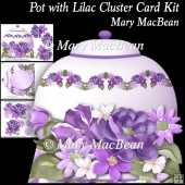 Pot with Lilac Cluster Card Kit
