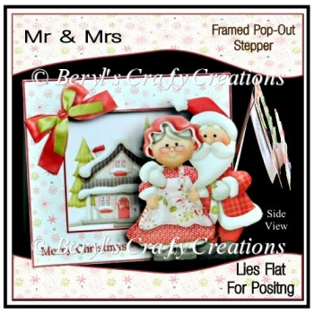 Mr & Mrs Framed Pop-Out Stepper