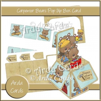 Carpenter Bears Pop Up Box Cards