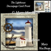 The Lighthouse Decoupage Card Front