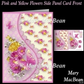 Pink and Yellow Flowers Side Panel Card Front