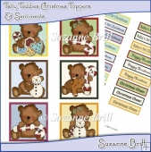 Tatty Teddy Christmas Toppers And Sentiments