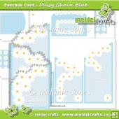 Daisy Chain Blue Cascade Card