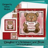 Daughter 6x6 Christmas Card Front