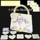 Spring Blossoms Yellow Designer Handbag Card Kit Insert & Verse