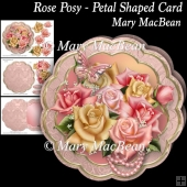 Rose Posy - Petal Shaped Card