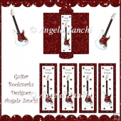 RED GUITAR BOOKMARKS