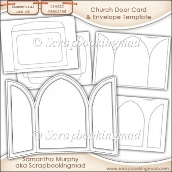 church door card envelope template commercial use instant card making downloads. Black Bedroom Furniture Sets. Home Design Ideas